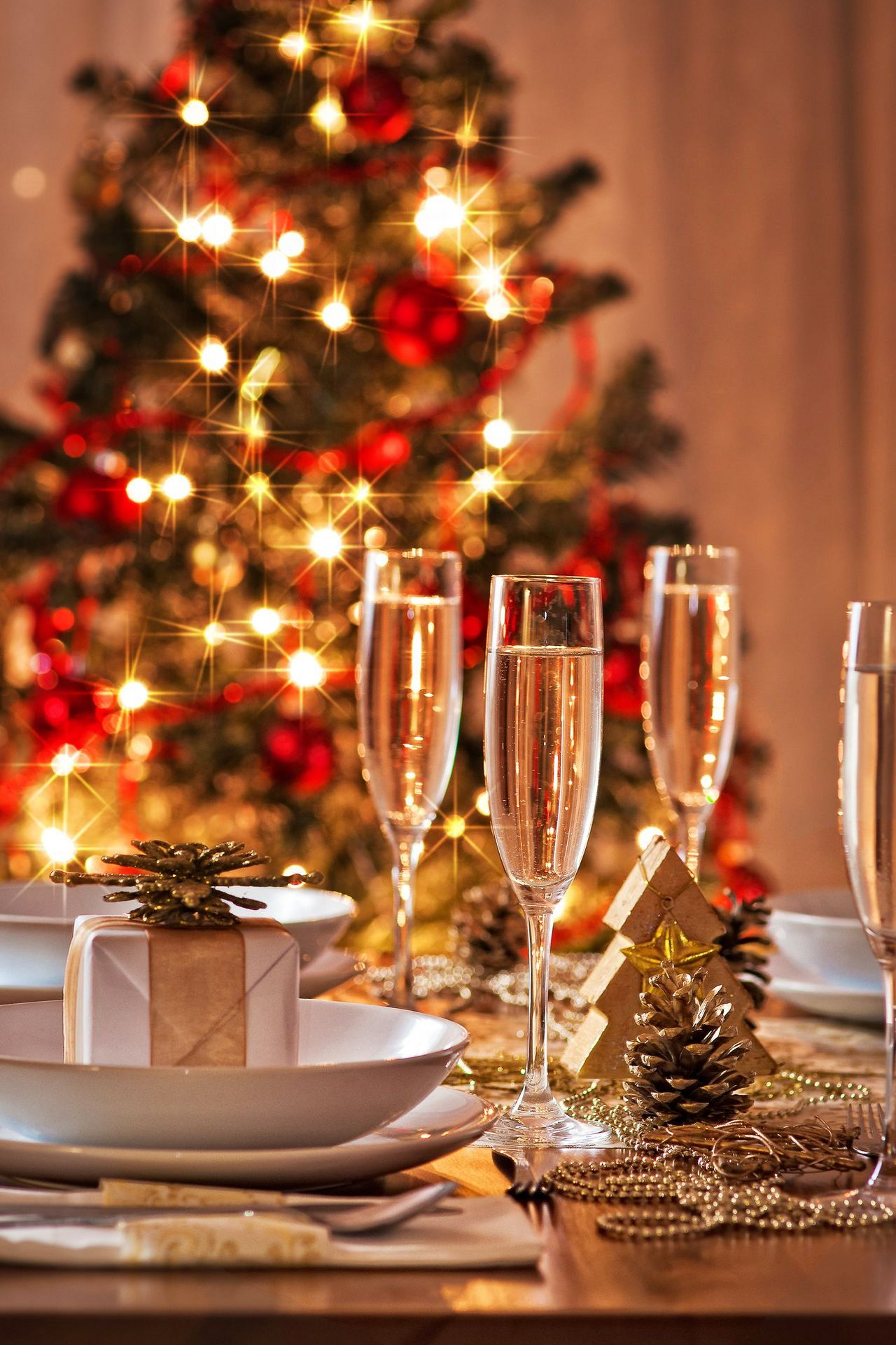 champagne glass christmastree cone lights 1280x1920