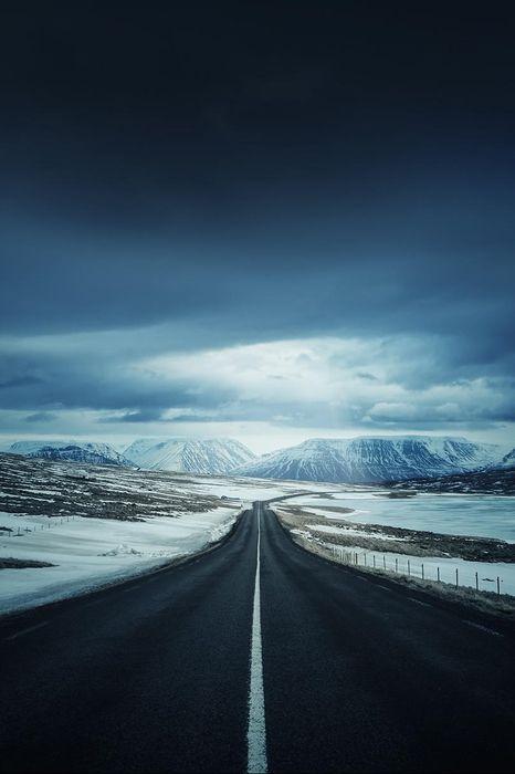 iceland black road