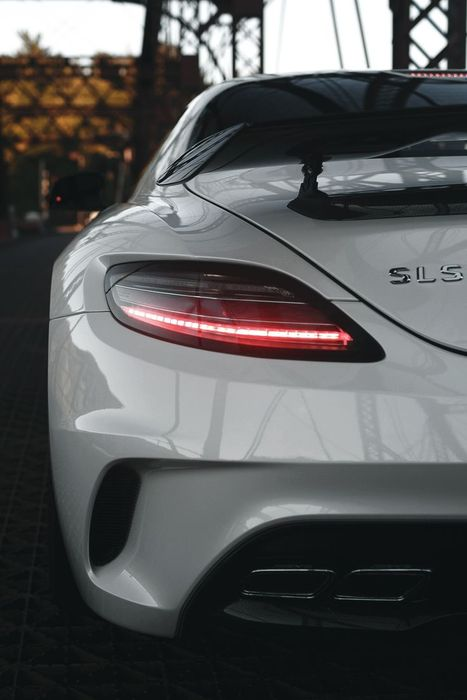 mercedes sls white supercars