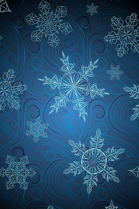 snowflakes abstraction blue background iphone7 retina