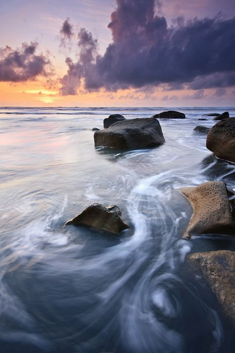 stone ocean cloud water
