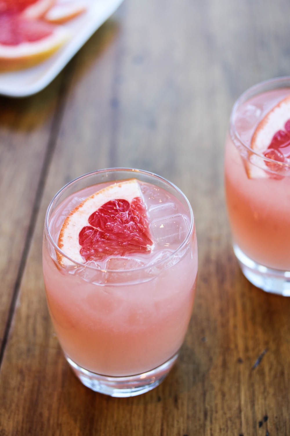 grapefruit ice glass cold drink food photo