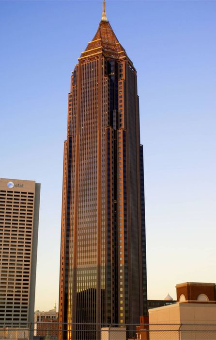 bank of america atlanta skyscraper sunset retina