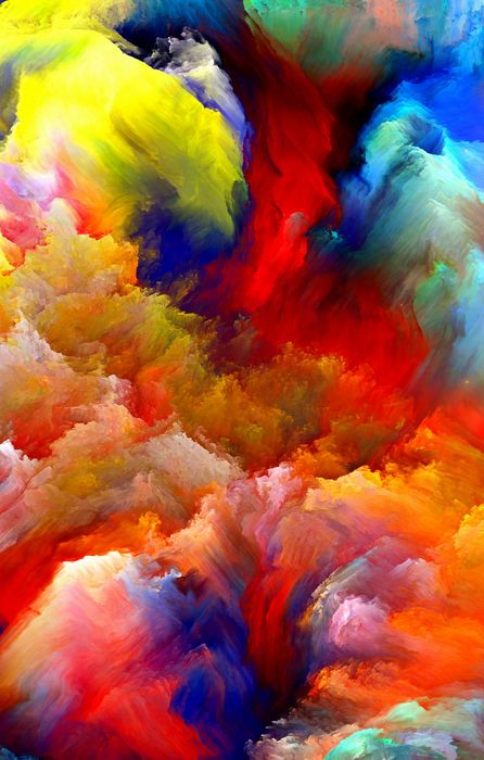painting colorful strokes iphone background retina