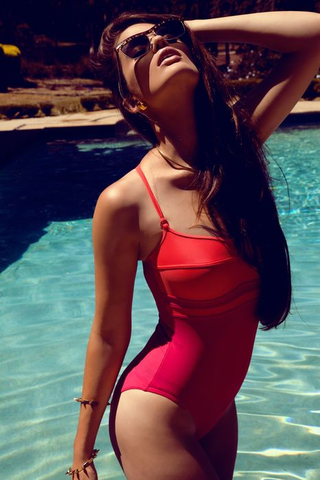 swimming pool sexy girl swimsuit