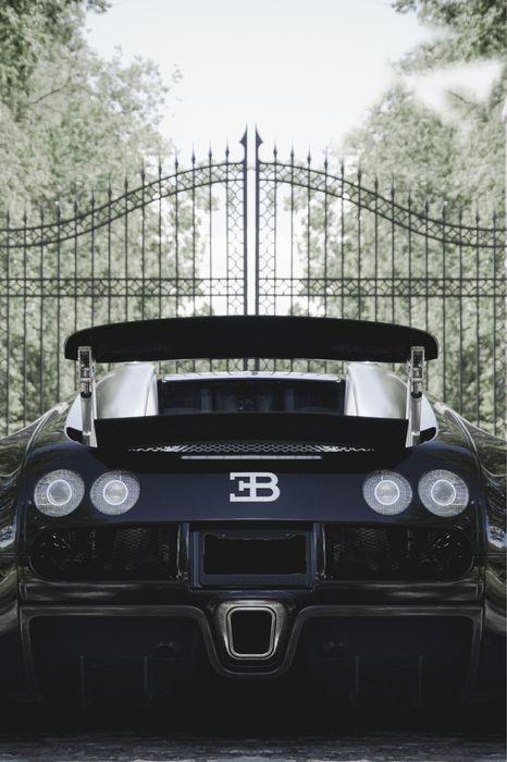bugatti black back