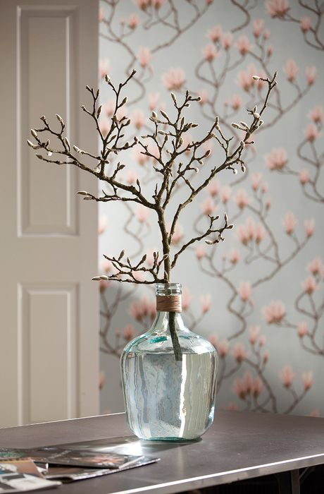 decoration bottle branch curtain design texture wallpaper
