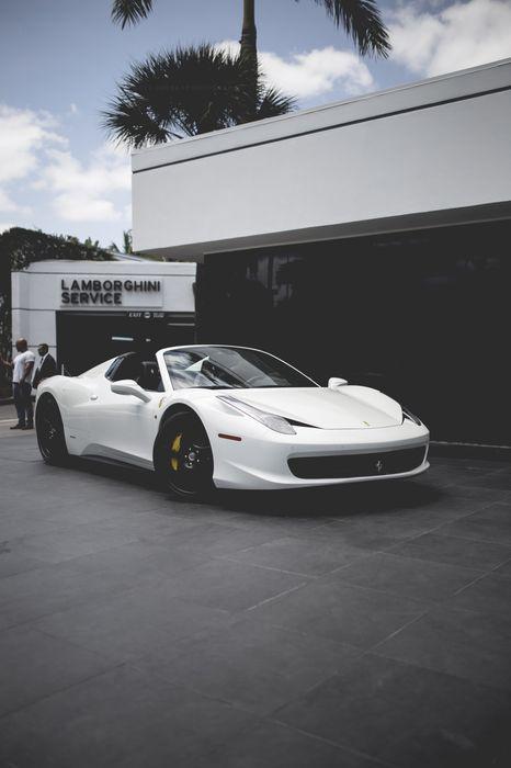 ferrari 458 italia white roadster 1280x1920