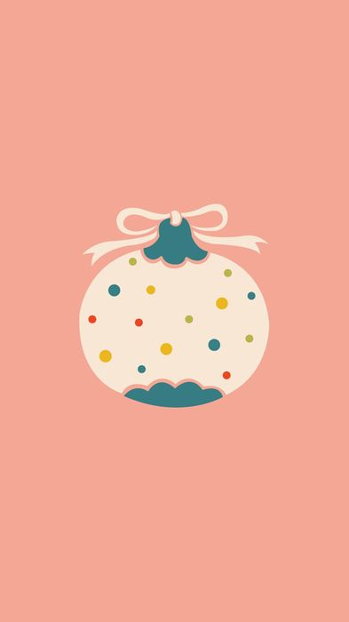flat minimal christmas ball wallpapers 1080x1920