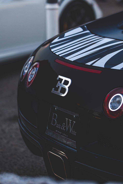 bugatti black tuning sportcar back macro