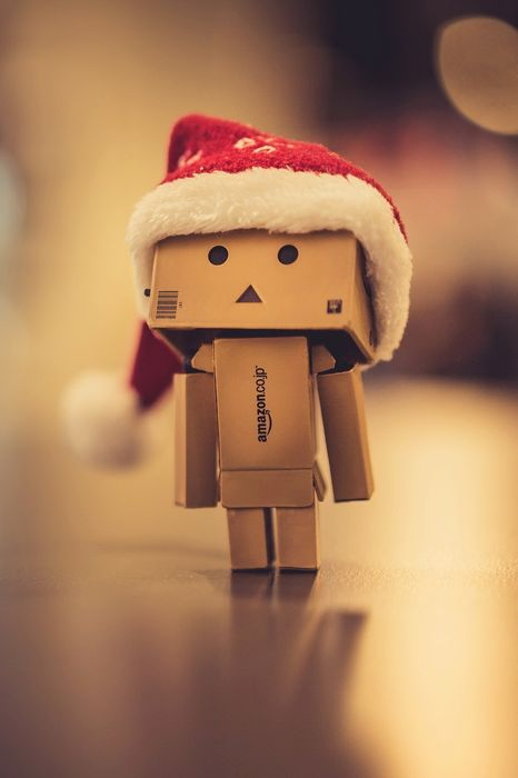 christmas hat danbo paper man amazon box