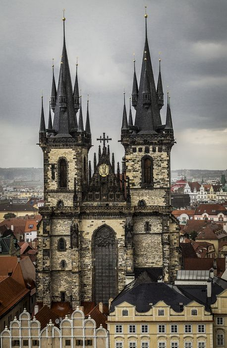 prague czech republic church cathedral architecture building tower europe religion city travel