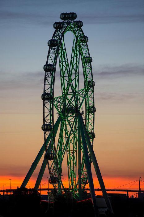 sunset melbourne star observation wheel iphone7 retina