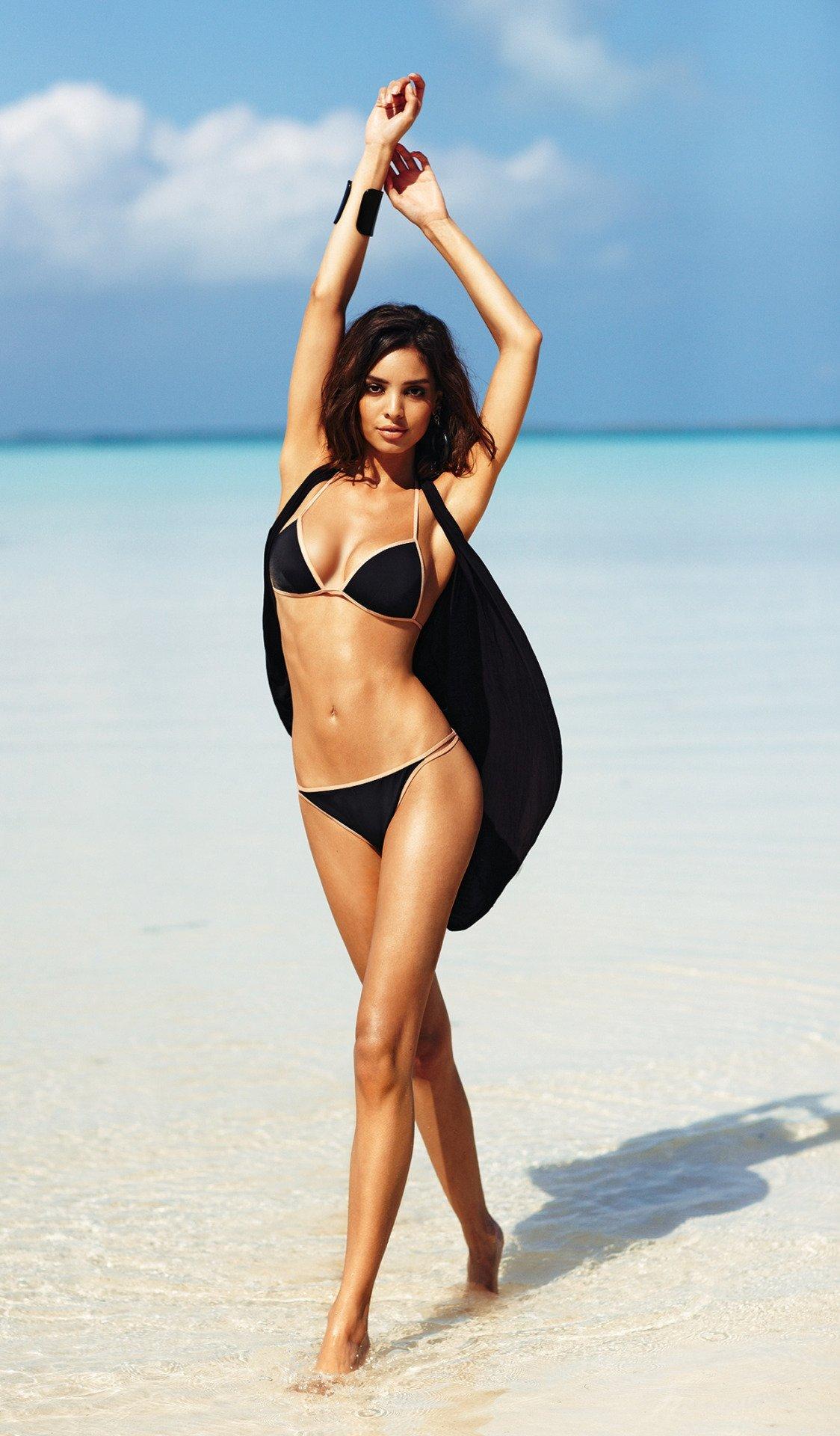 sabrina nait beach model girl swimsuit