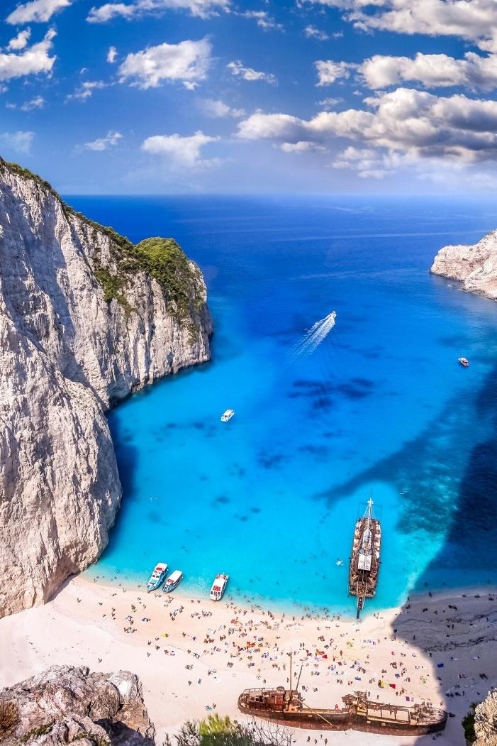 zakynthos greece fly view