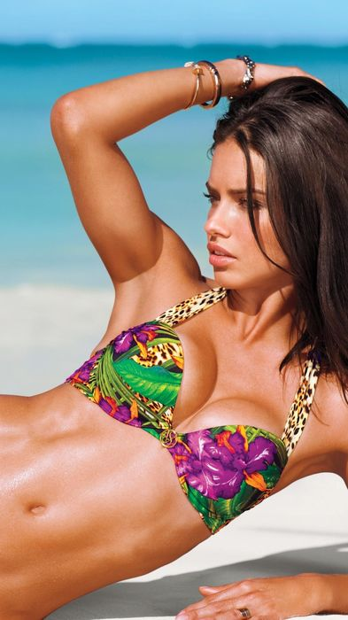 adriana lima beach girl model swimsuit