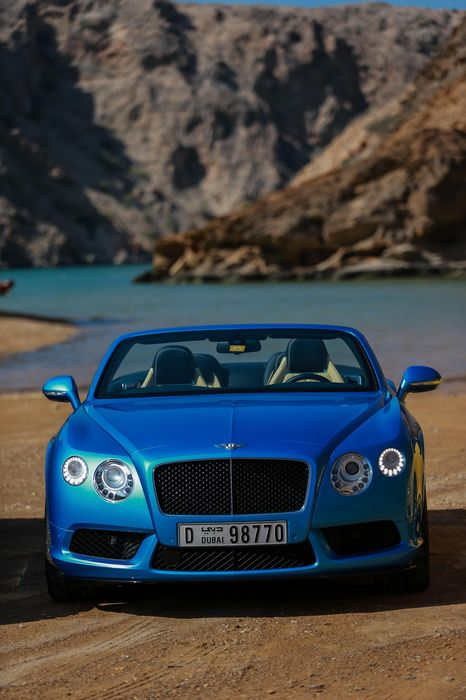 bentley continental cabriolet blue supercar ocean