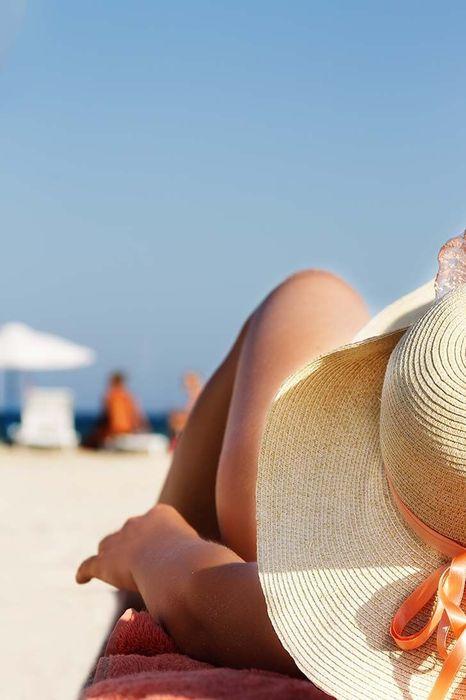sunshine sea hat summer