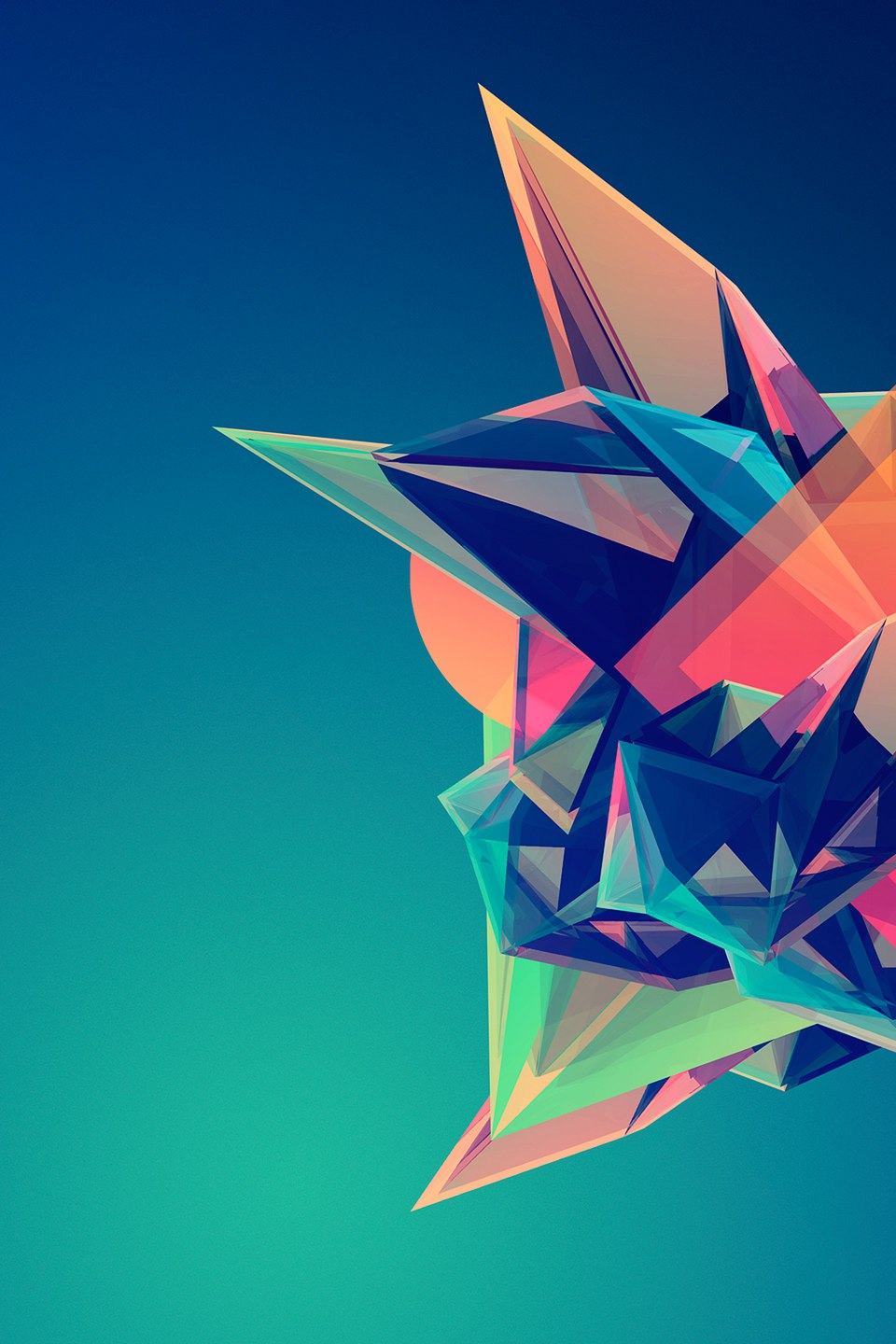 abstraction colorful angles wallpaper
