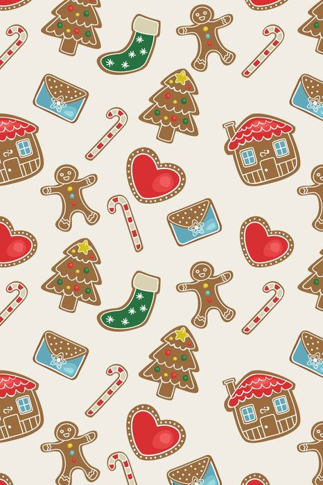 christmas cartoon art design drawing pattern celebration element decoration background