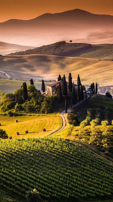 tuscany landscape hd 1080x1920
