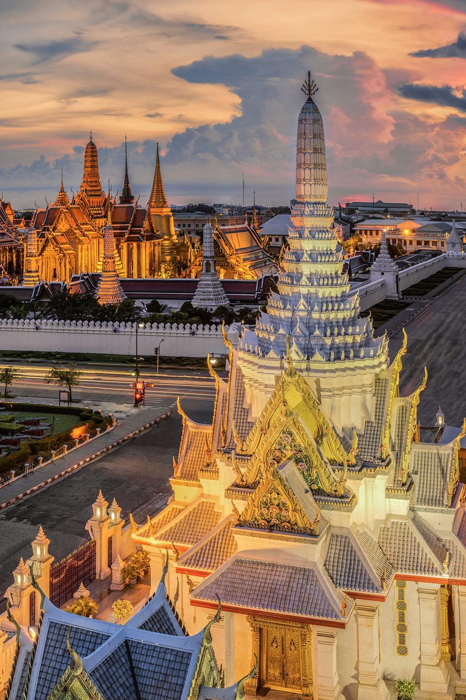 thailand architecture lights cloud