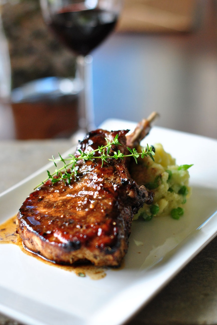 balsamic glazed pork chops