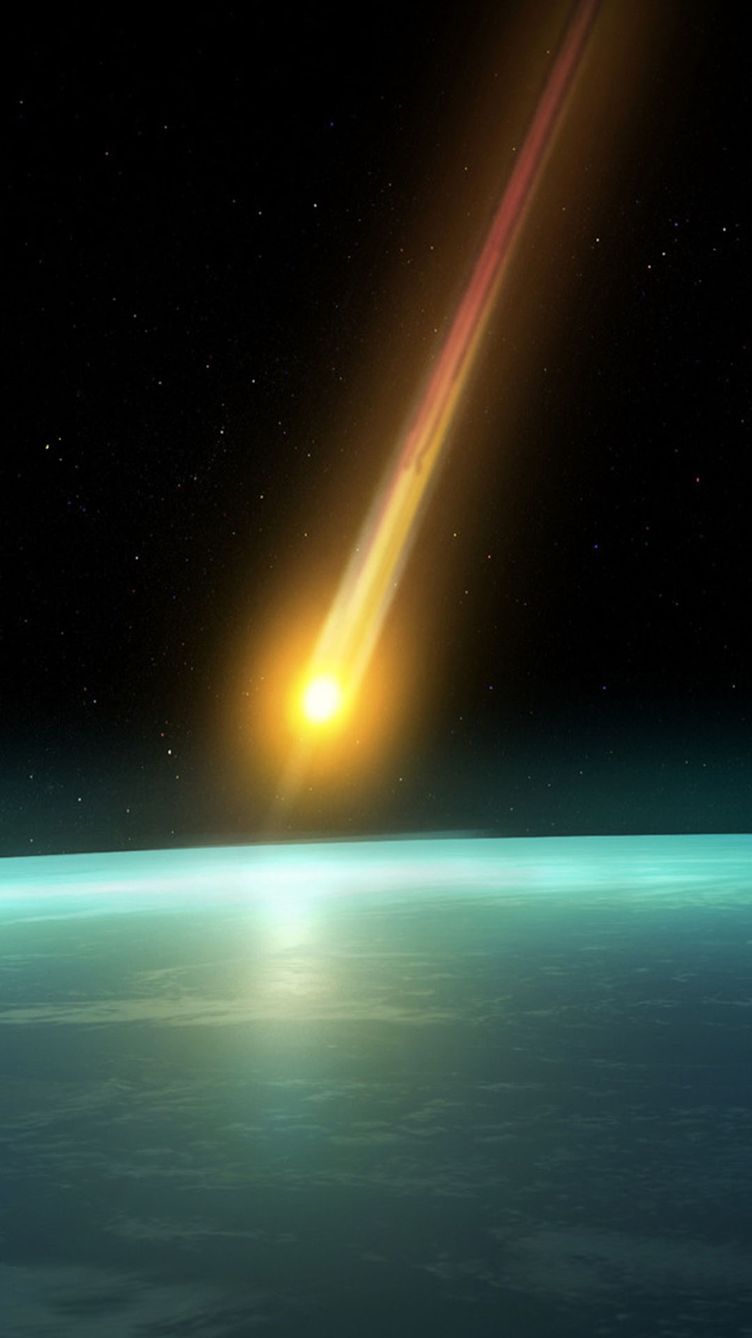 earth meteorite space abstraction wallpaper