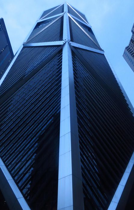 china skyscrapers blue geometry retina