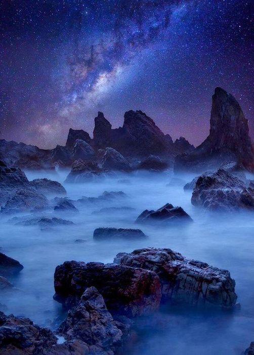 milky way violet stones