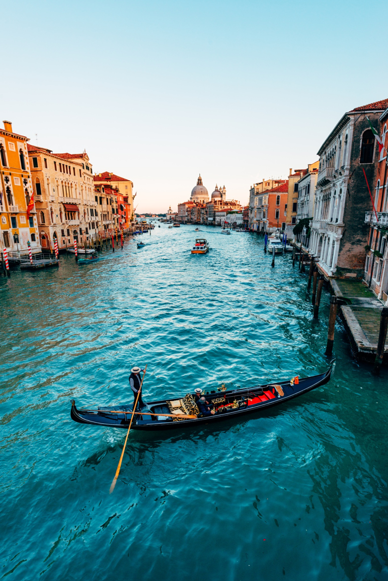 venice canal boat gondola architecture europe tourism water river travel city