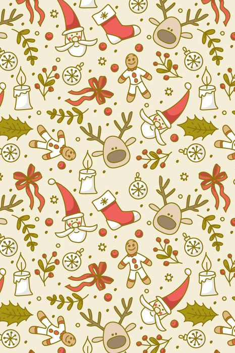 christmas santa reindeer socks pattern design decoration wallpaper art background