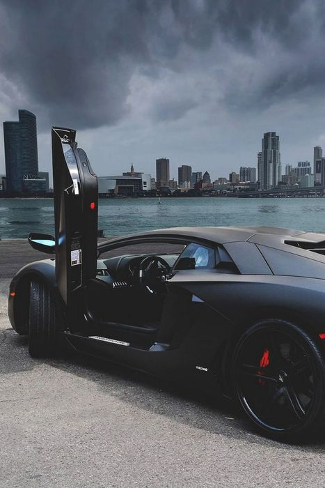 lamborghini aventador black city berth