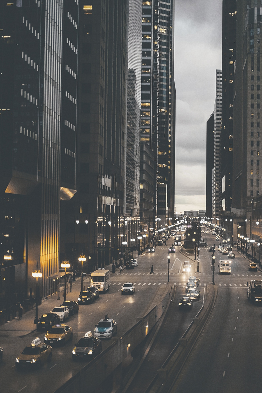 city buildings cars megalopolis