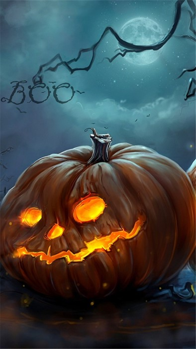 halloween pumpkin moon eerie fall scary lantern color dark desktop