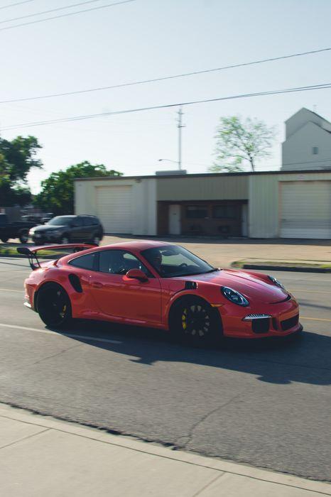 porsche 911 red sportcar street 1280x1920