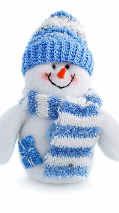 snowman blue scarf hat snow happy 1080x1920