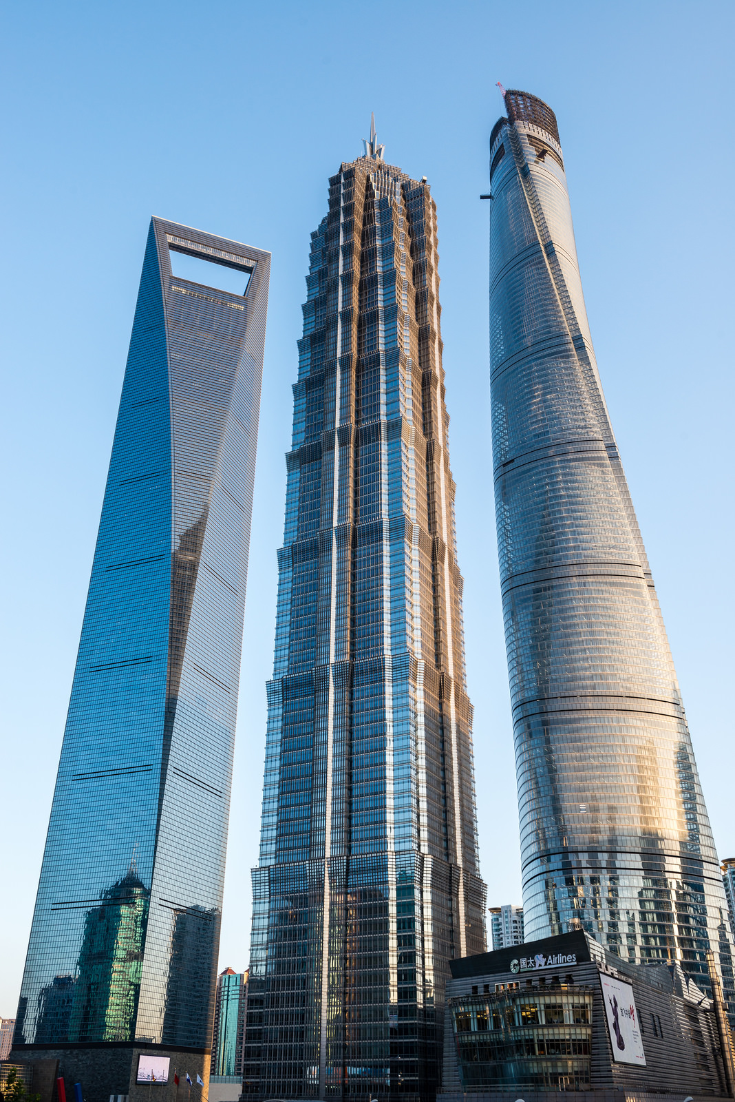 city skyscraper architecture shanghai skyline tower