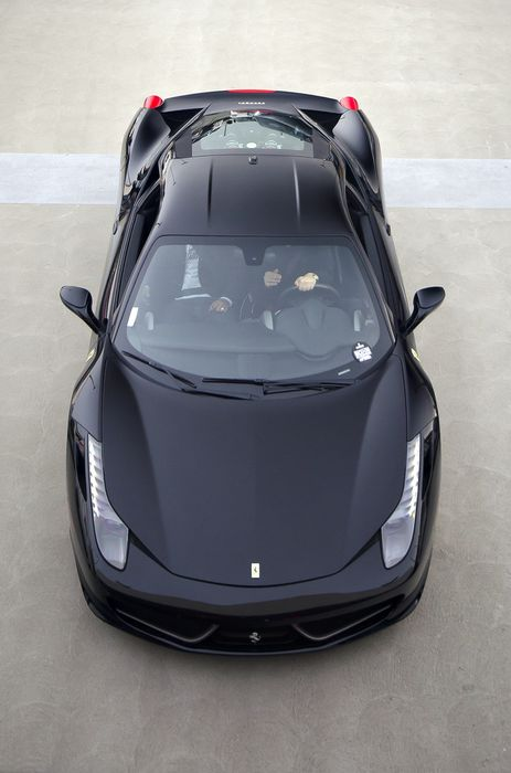 ferrari italia 458 black top view