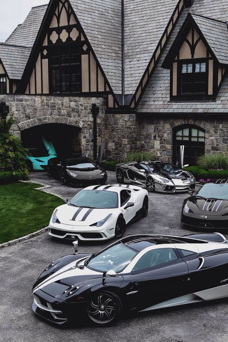 luxury cars  house pagani ferrari lamborghini garage summer business