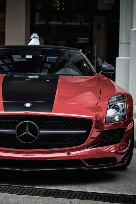mercedes amg v12 red black sportcar iphone7 retina
