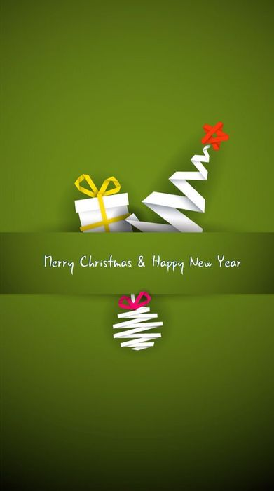 merry christmas happy newyear green background
