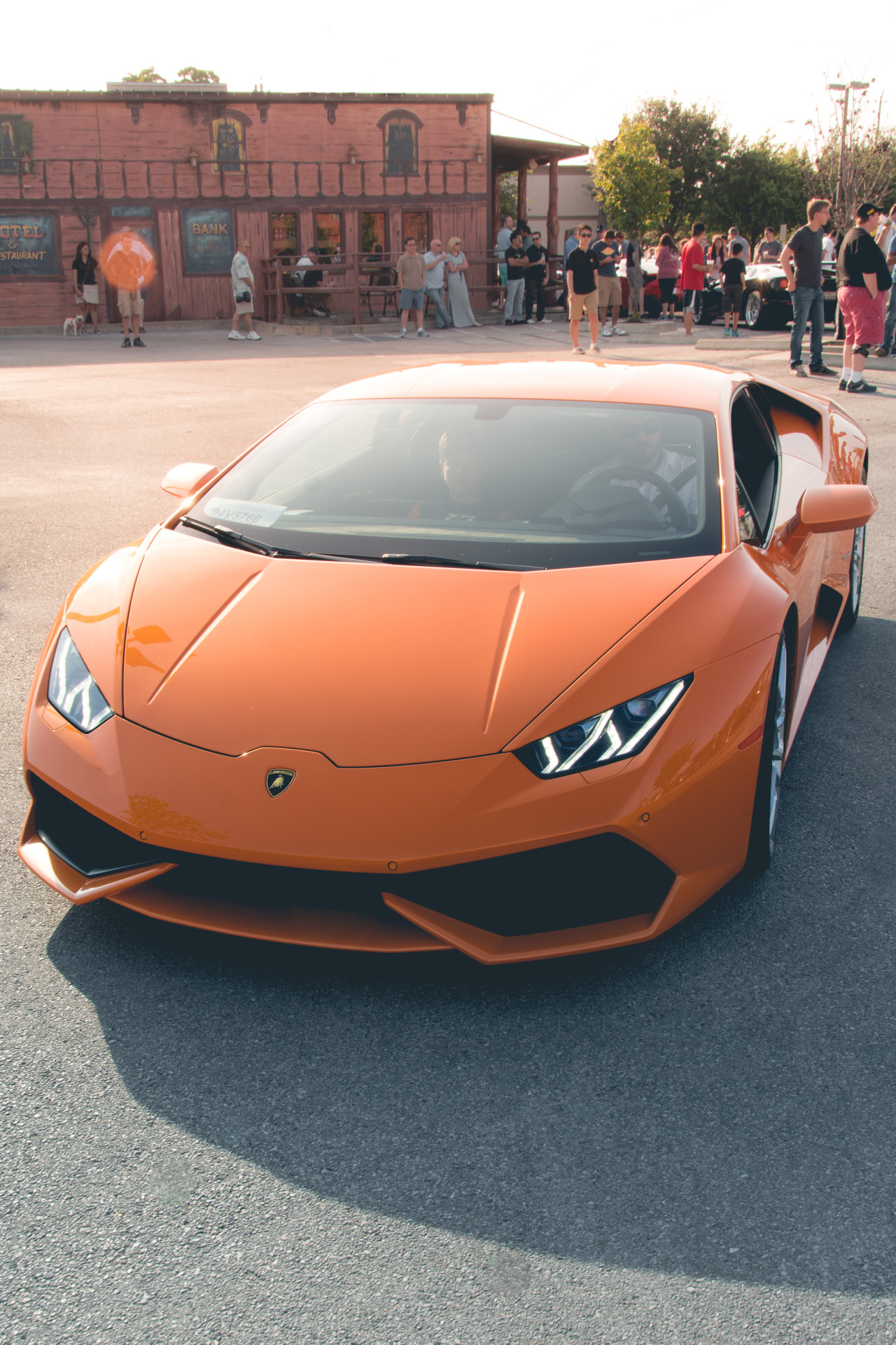 huracan lamborghini orange sportscar drive speed