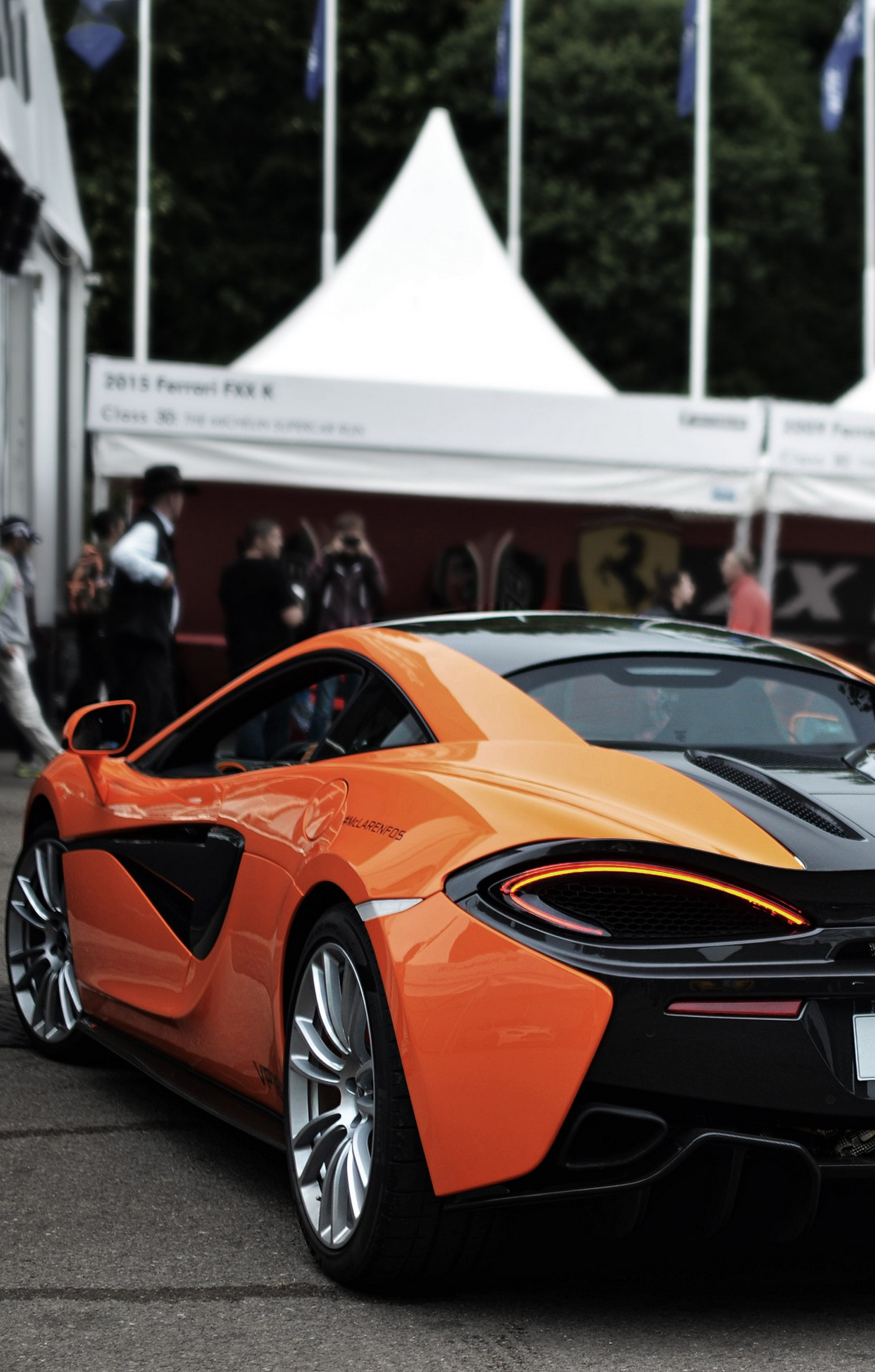 mclaren 570s orange back sportcar retina