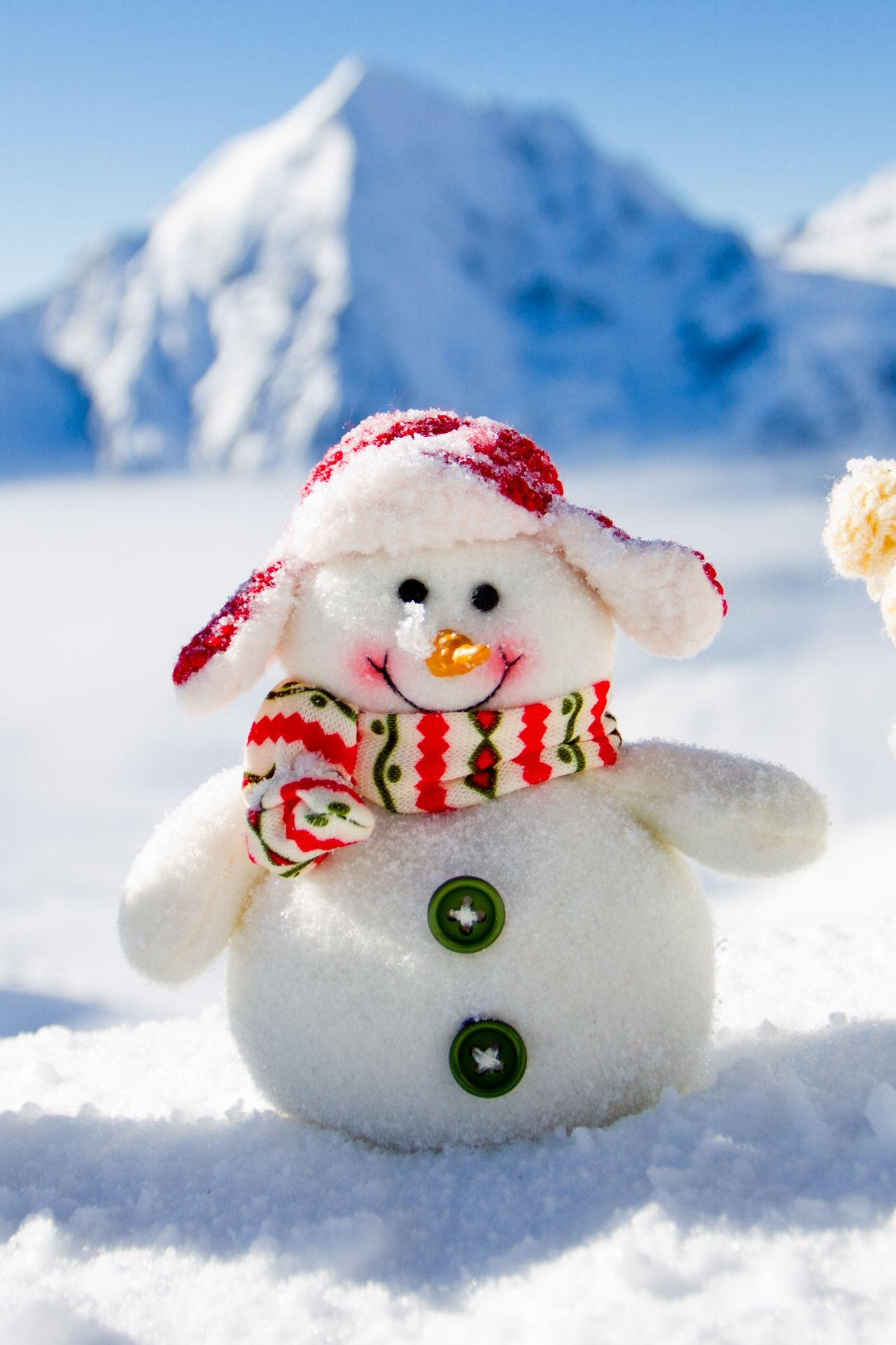 merry christmas snowman hat scarf happy smile 1280x1920