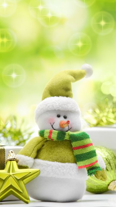 gifts green stars balls new year christmas snowman toys 720x1280