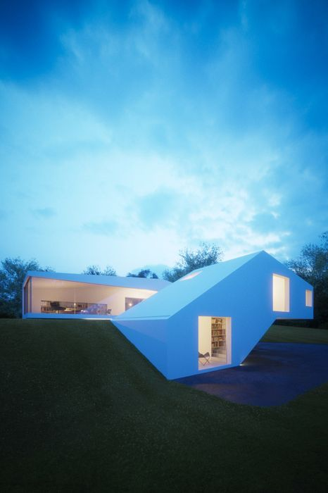 house design ground blue