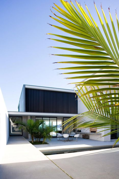 luxury home palms outdoor design