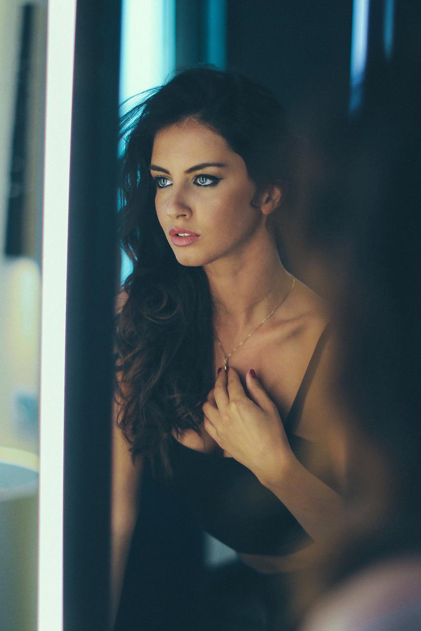 girl window looking reflection model