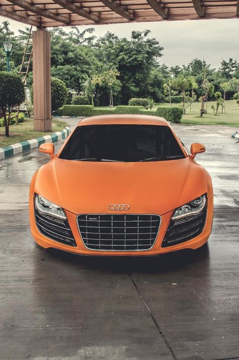 audi a8 orange supercar